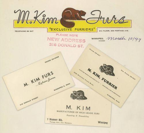 M.Kim Furs Letterhead