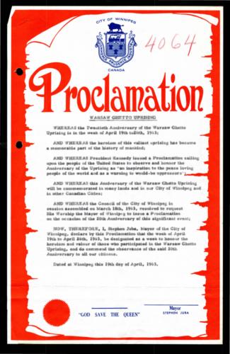 1963 Proclamation by Mayor Juba