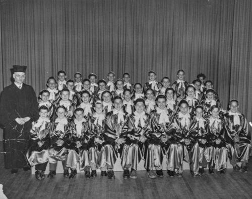 Cantor Benjamin Brownstone and the Talmud Torah Choir, c. 1951