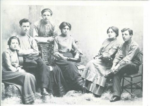 J. Alter Cherniack (standing) and Fanya Cherniack (second from right) were two of the founders of the Jewish Immigrant Aid Society.