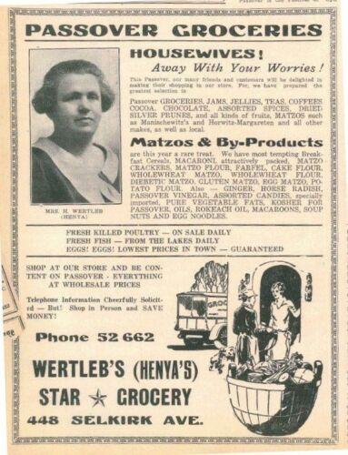 Jewish Post Passover ad March 1932