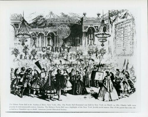 Purim Ball Illustration New York 1865